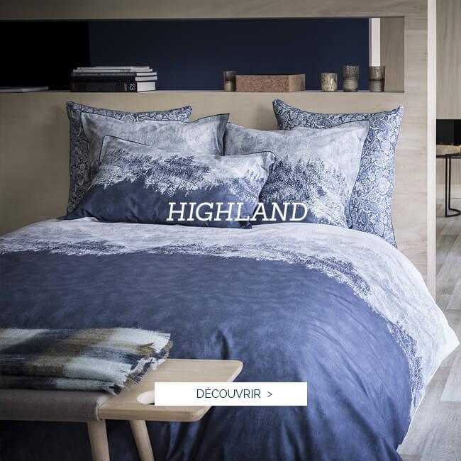 Parure de lit de luxe en percale de coton imprimé