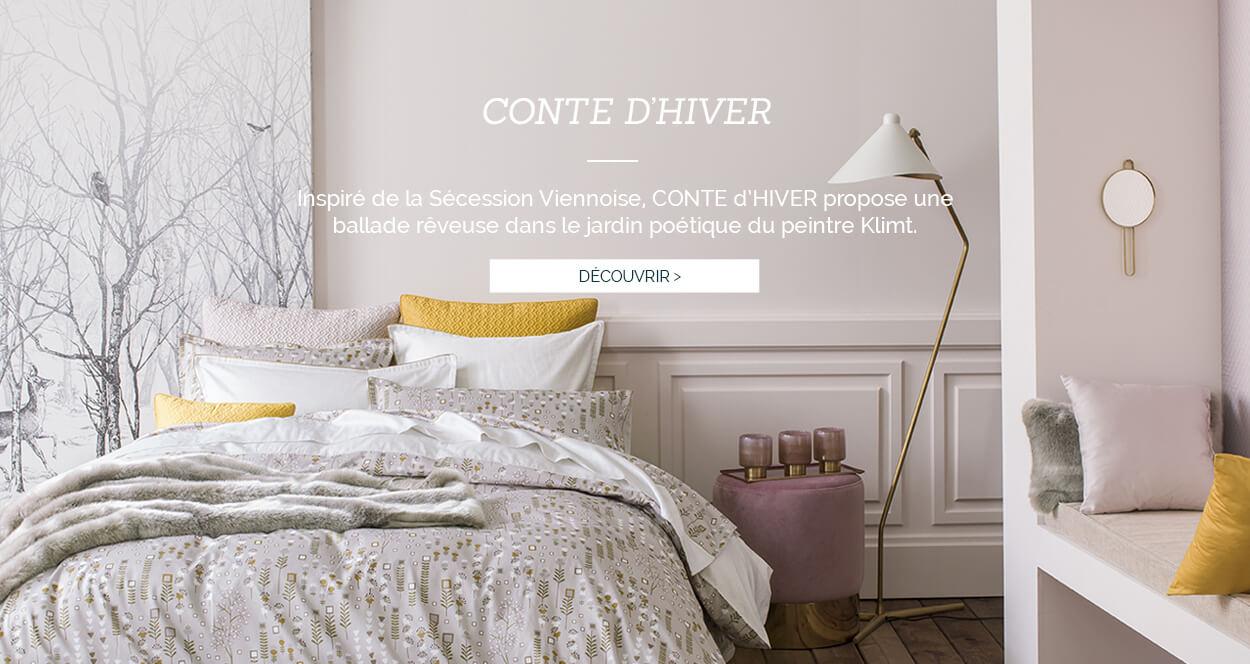 Linge de lit luxe, parure de lit luxe, housse de couette satin de coton, fabrication francaise, gustav KLIMT