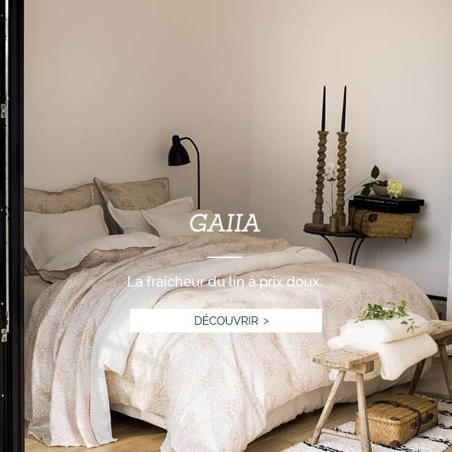 PROMOTIONS : Profitez de -30% sur le modèle en lin imprimé GAIIA et sur une sélection de produits de luxe en lin Alexandre Turpault