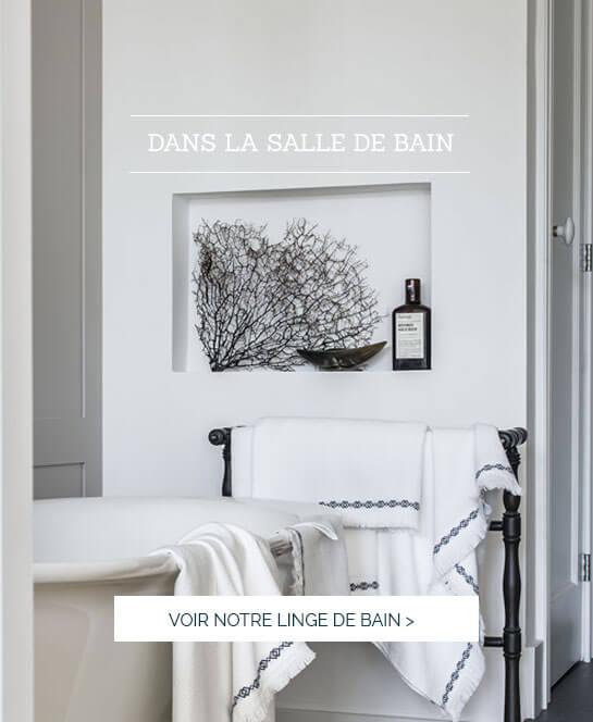 Linge de maison luxe, linge de bain GOTS, serviette de bain haut de gamme
