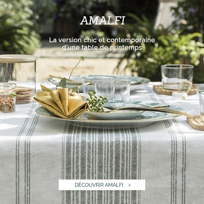 Linge de table en lin luxe, nappe en lin Made in France