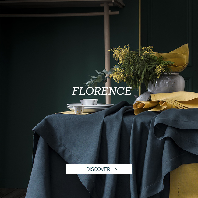 Fall-winter collection 2018 : luxury tablelinen, tablecloth, napkin