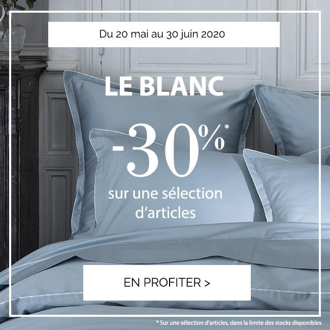 LE BLANC D'ÉTÉ : Jusqu'à -30% sur une sélection d'articles !