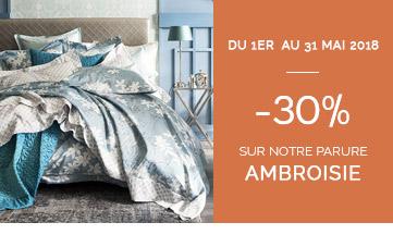 Linge de lit luxe, Parure de lit Alexandre Turpault promotion du 1er mai au 31 mai 2018