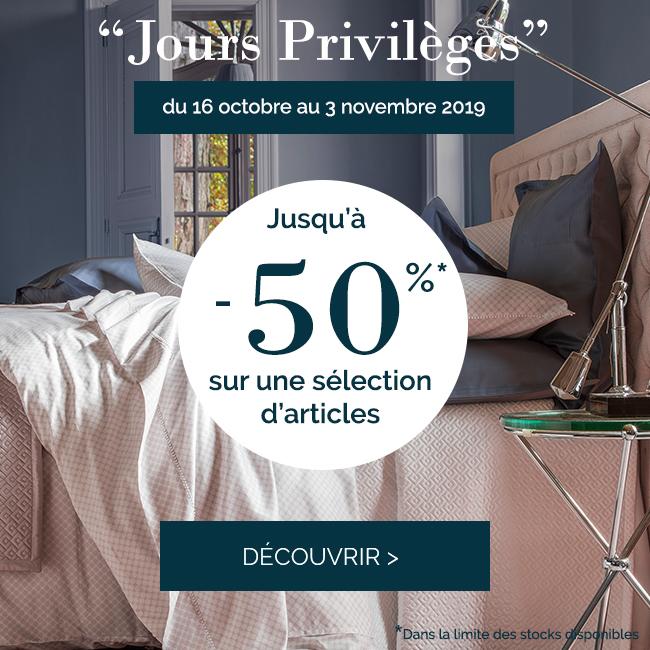 Jours privilèges : Jusqu'à -50% sur une sélection d'articles !