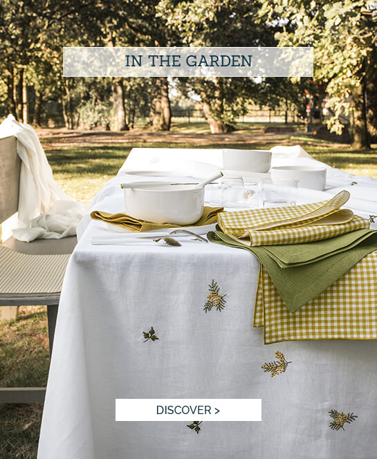 Luxury table linen - In the garden