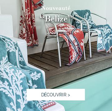 BELIZE : nos serviettes de plage haut de gamme certifiées Label GOTS >