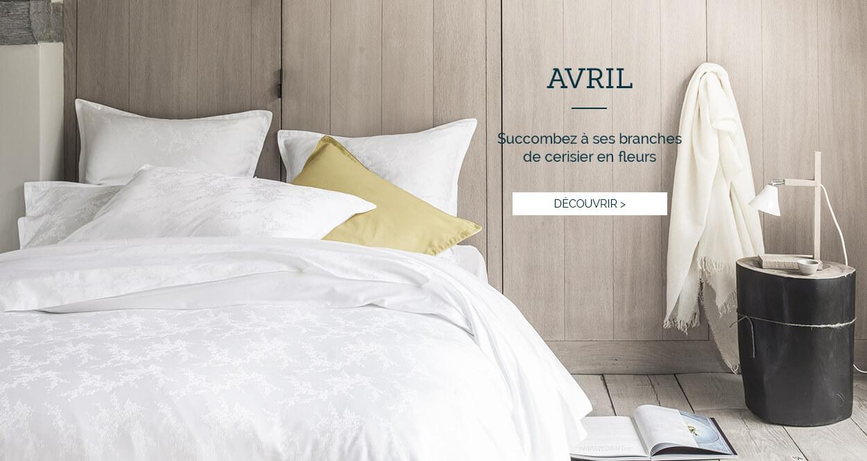 Parure de lit de luxe en jaquard de coton AVRIL