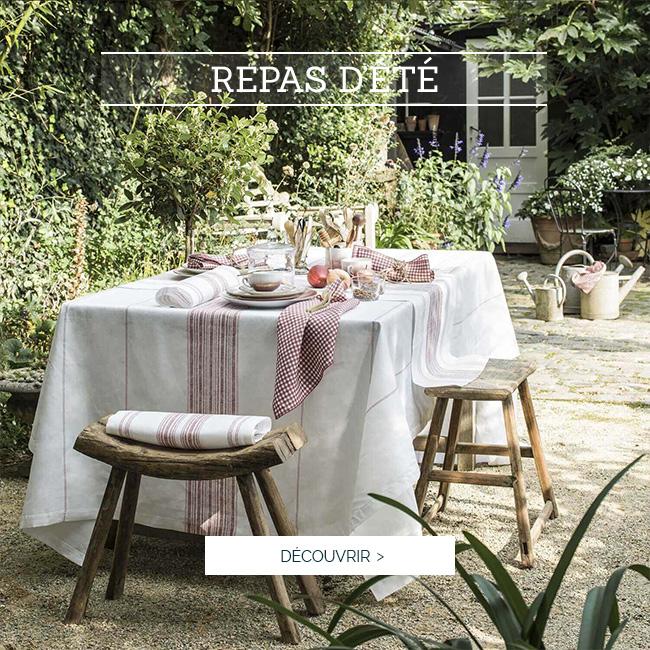 REPAS D'ÉTÉ | Succombez à notre bel ensemble de linge de table haut de gamme AMALFI