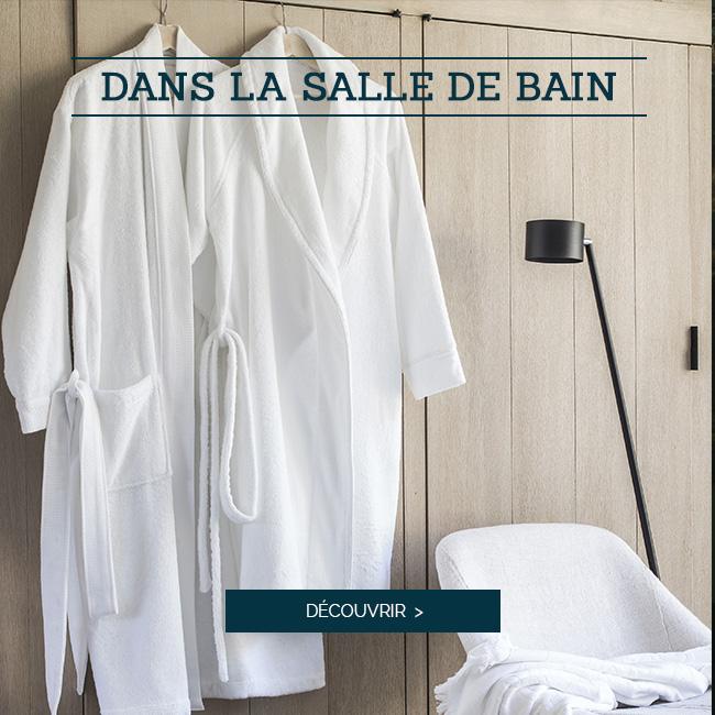 DANS LA SALLE DE BAIN | Découvrez nos jolis peignoirs haut de gamme ESS-CALE et ESS-KIMO