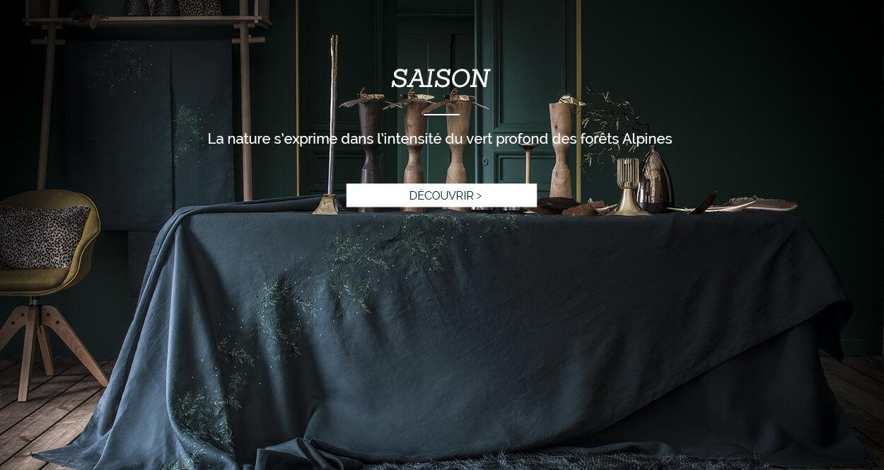 Linge de table haut de gamme, nappe de luxe en lin