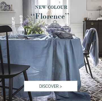 FLORENCE | Discover our new colour from our essential table cloth in linen >