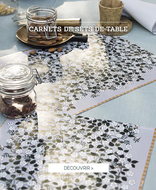 Carnets de croquis : nos jolis sets de table en papier !