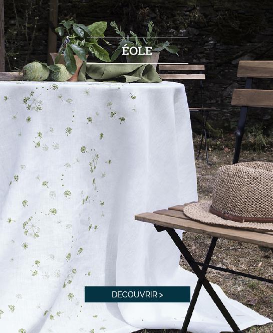 EOLE : Découvrez notre nouvelle nappe brodée >