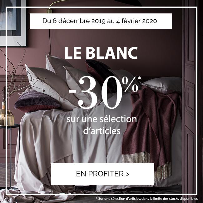 BLANC D'HIVER : Profitez de -30% sur une sélection d'articles !