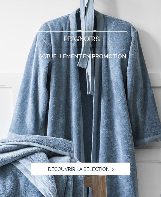 Linge de lit luxe, haut de gamme, parure de lit luxe, savoir faire made in France, peignoir luxe