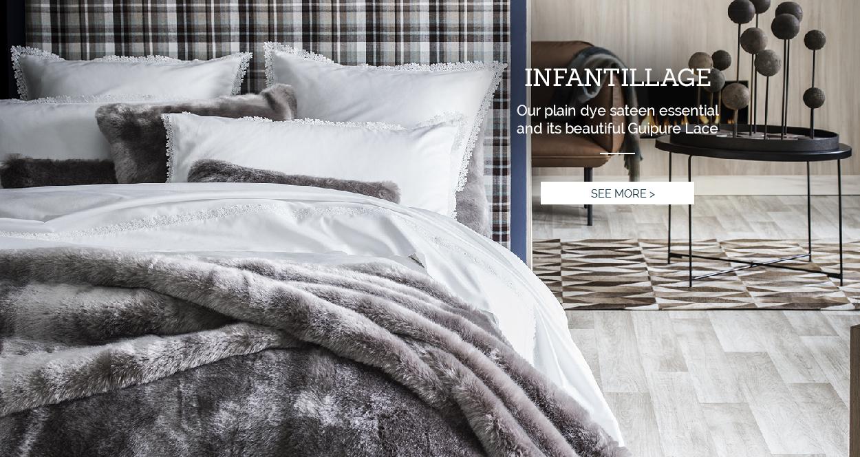 INFANTILLAGE: Our essential sateen bed set >