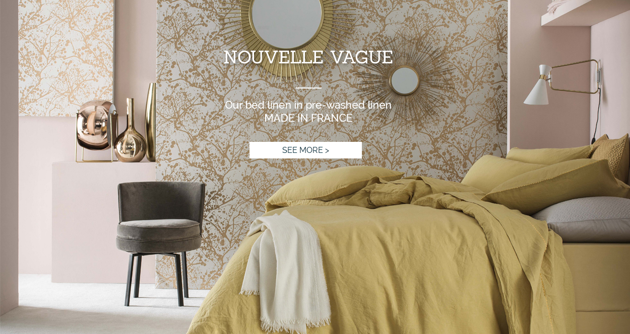 Nouvelle vague: Our high-end bed set in washed linen >