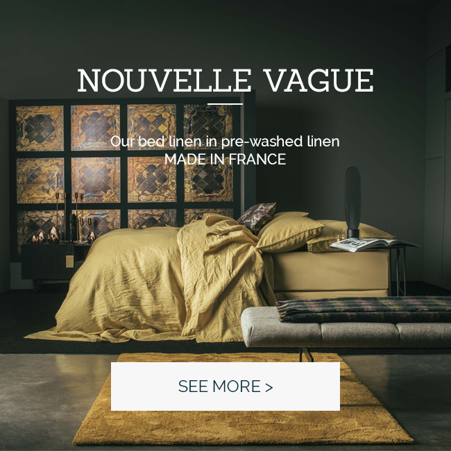 NOUVELLE VAGUE: Our high-end bed set in pre-washed linen