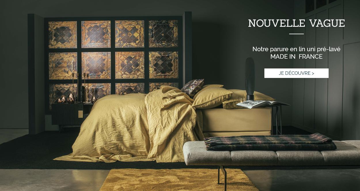 NOUVELLE VAGUE : notre linge de lit haut de gamme en lin uni pré-lavé !
