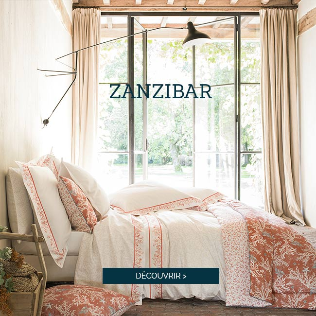 Parure de lit de luxe en satin de coton ZANZIBAR