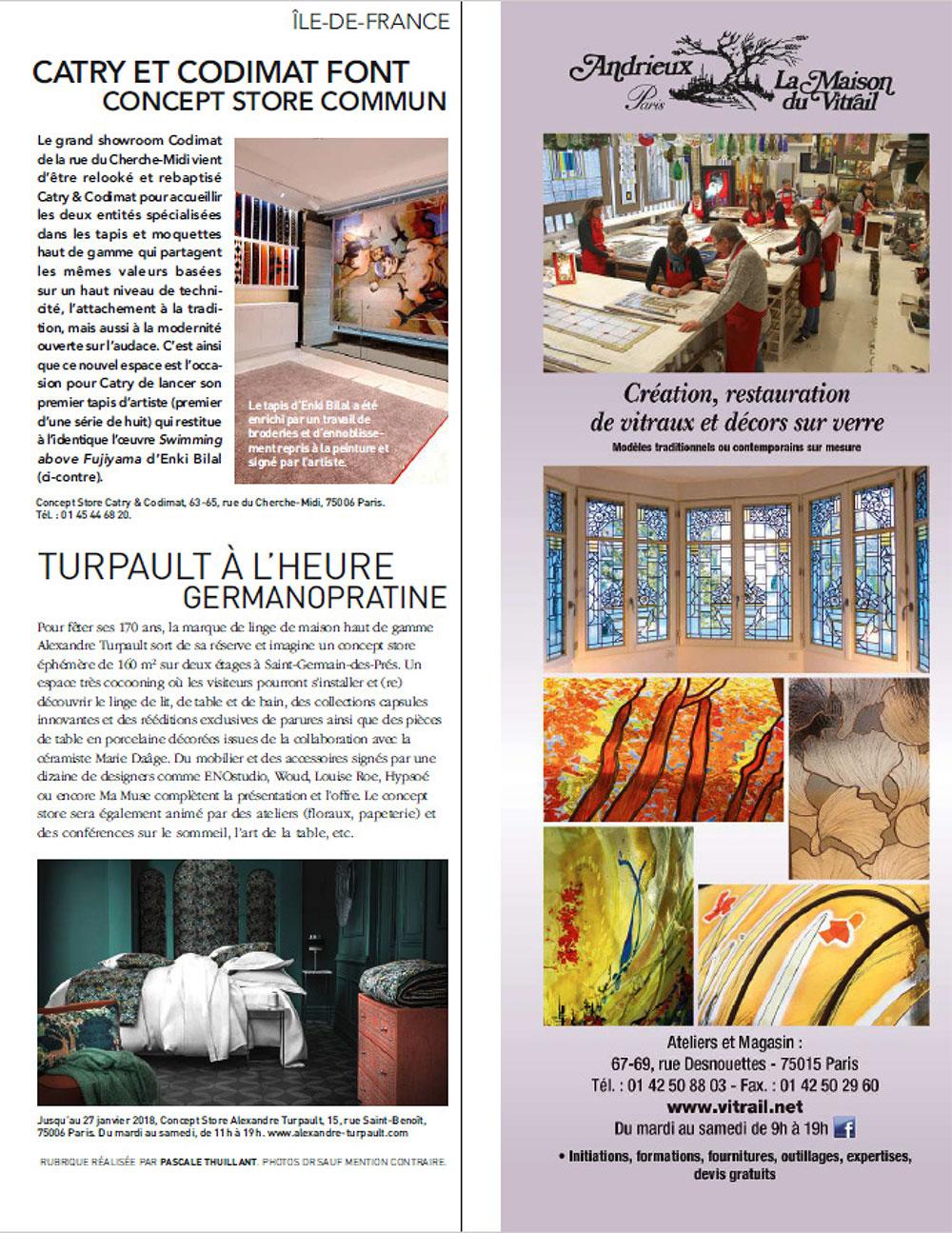 Magazine Art Et Décoration parution art & décoration mars 2017 - blog - alexandre turpault