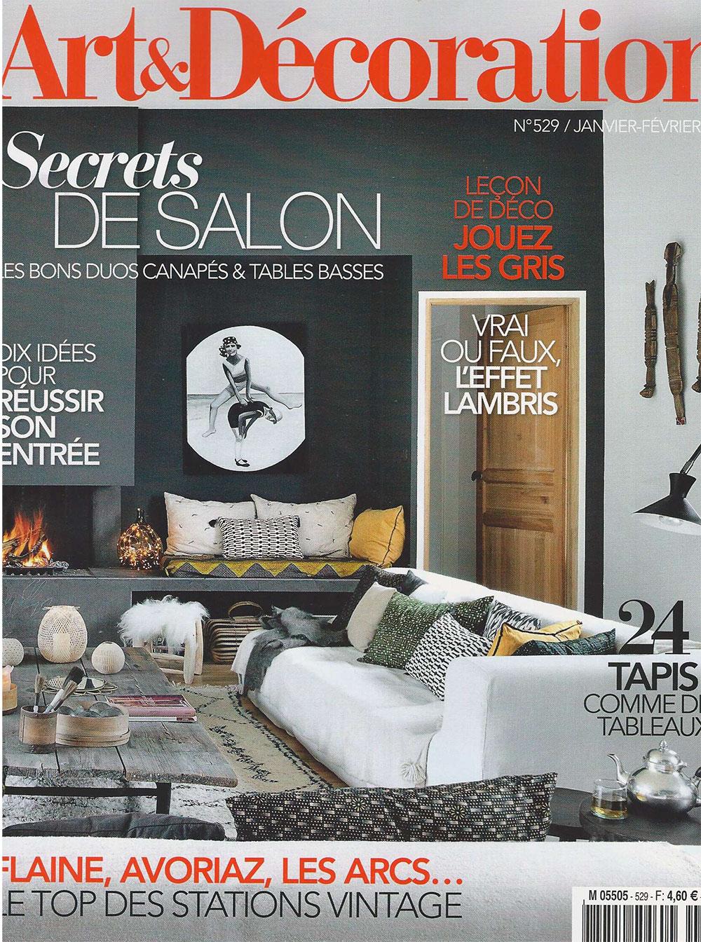 Magazine Art Et Décoration parution art & décoration janvier 2018 - blog - alexandre