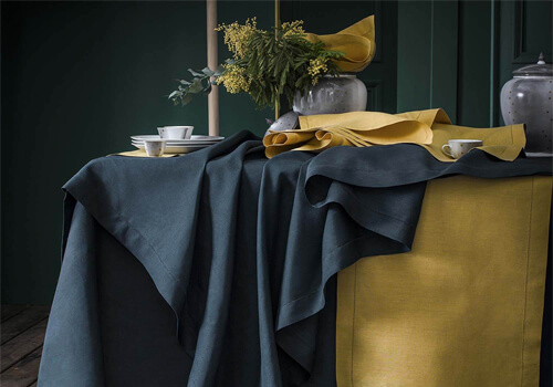 Our pure linen table linen collection