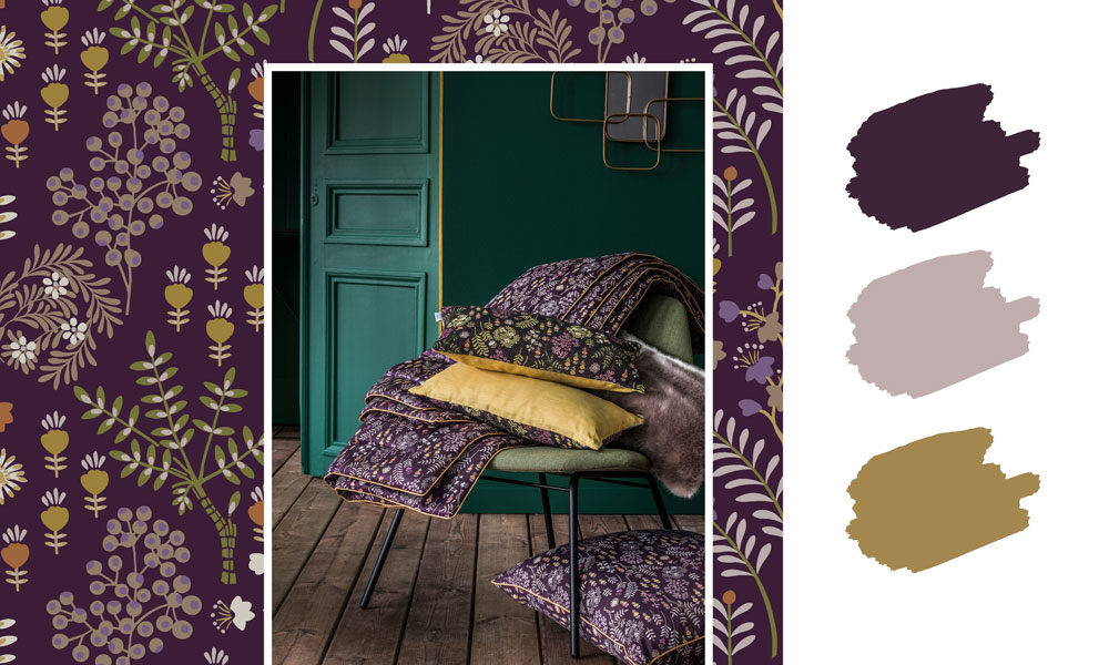 Cosima bed accessories, cotton sateen throw and cushion