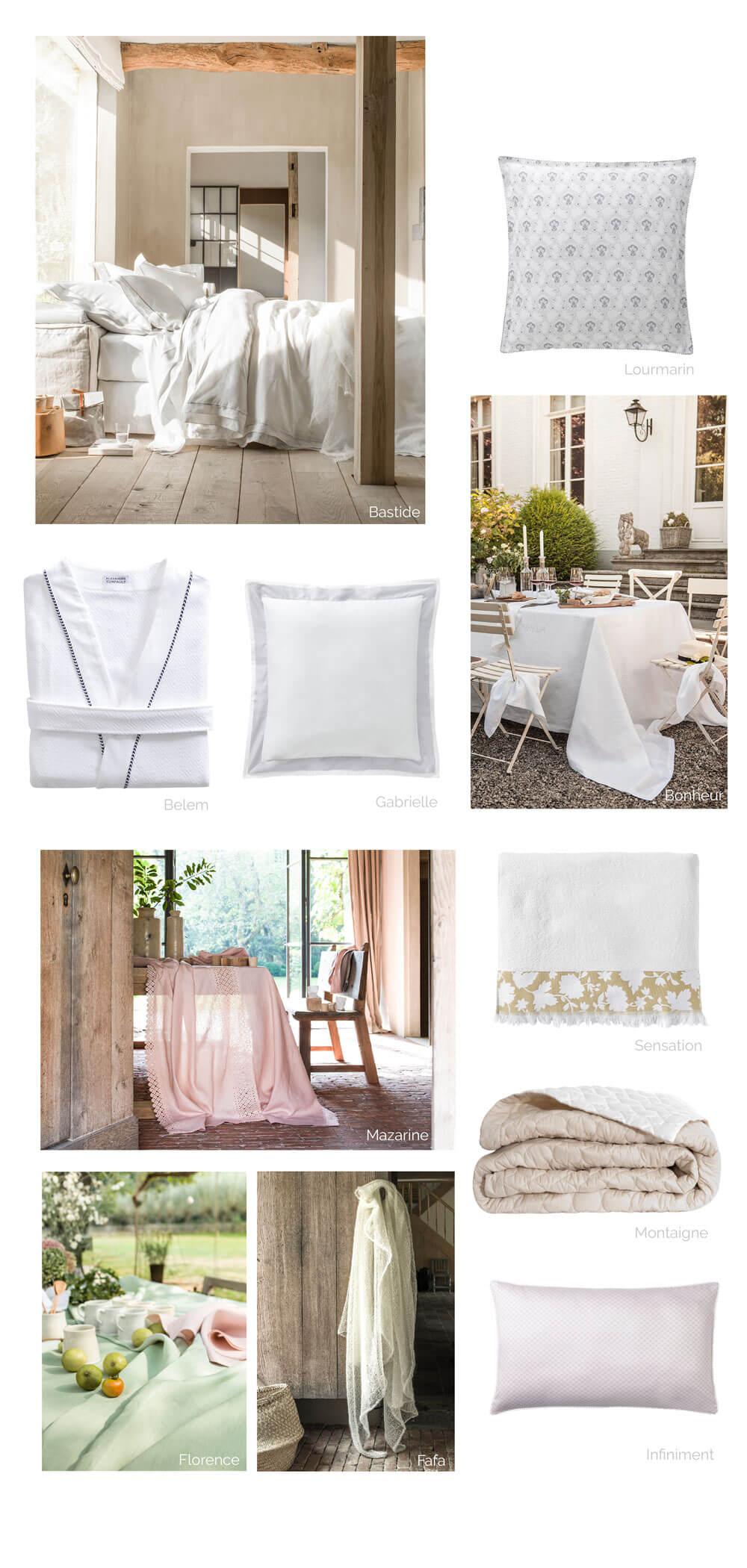 parure de lit alexandre turpault bastide blanc