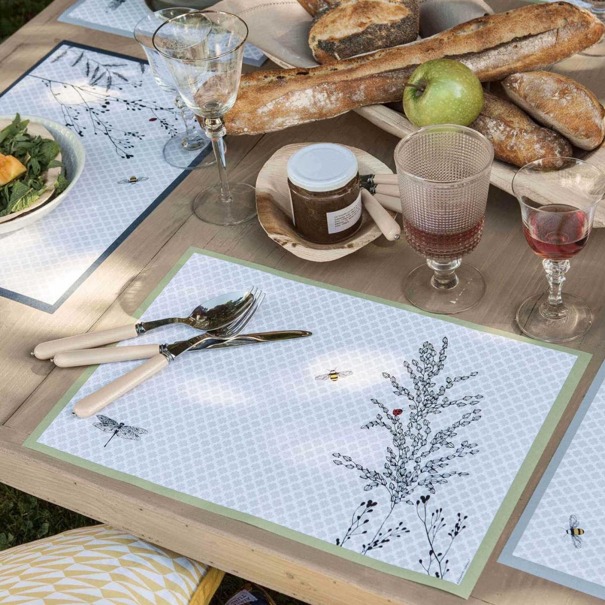 Carnet et recharge de sets de table JARDIN DES PLANTES en papier
