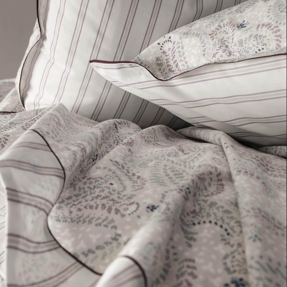 """Linge De Maison Bordeaux parure de lit en percale de coton les routes de la soie imprimé """"ornemental"""""""