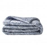 Bout de lit luxe SAUVAGE Bleu en satin de coton
