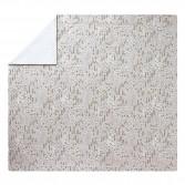 Housse de couette CONTE D'HIVER gris or Fleurs en satin de coton imprimé