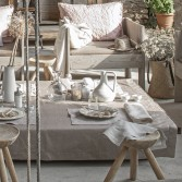 Set de table CANNAGE en coton enduit