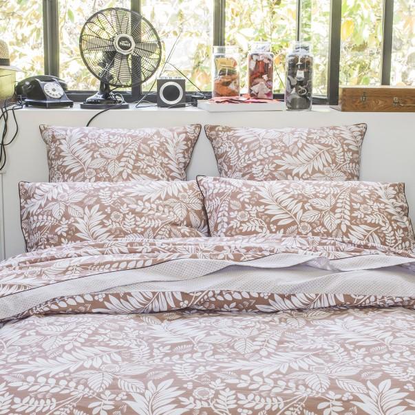 Parure de lit L'ILE ROUSSE en percale de coton imprimée
