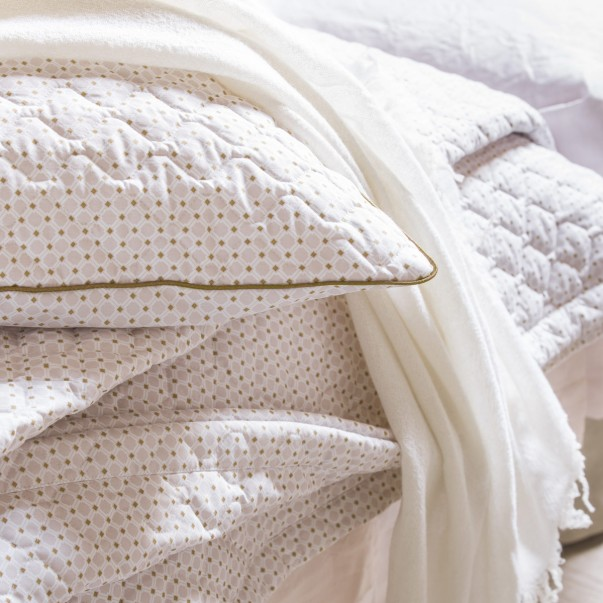 Courtepointe LITTLE GEO en percale de coton