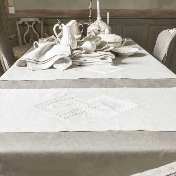 Chemin de table en lin ALCHIMIE en lin