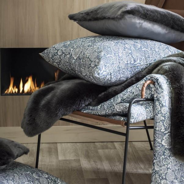 Ensemble d'accessoires luxe SAUVAGE Bleu en satin de coton