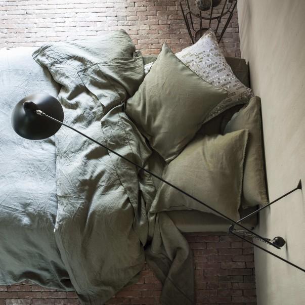 Parure de lit fabriquée en France NOUVELLE VAGUE en lin lavé en promotion