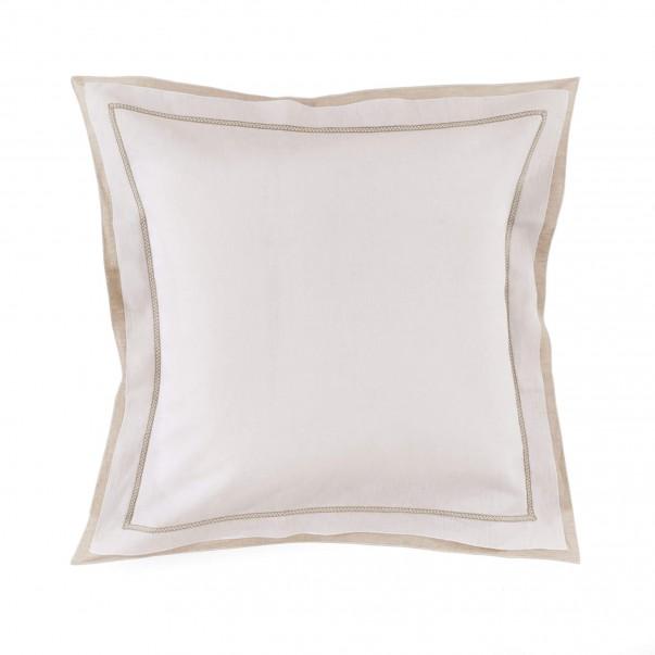 Taie d'oreiller BASTIDE Blanc/Naturel