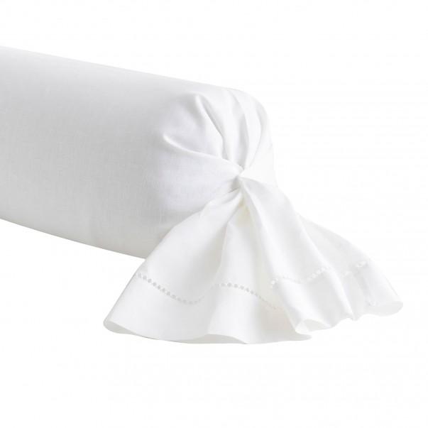 Taie de traversin en lin REGENCE Blanc