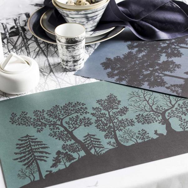Carnet de set de table en papier DANS LES BOIS