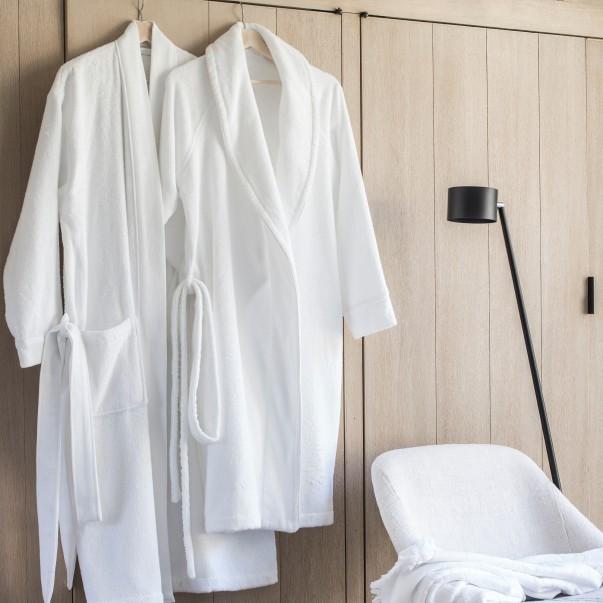 Peignoir de bain ESS-CALE en coton d'origine biologique