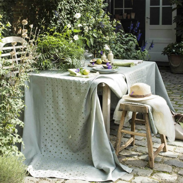 Ensemble de linge de table Luxembourg Olive