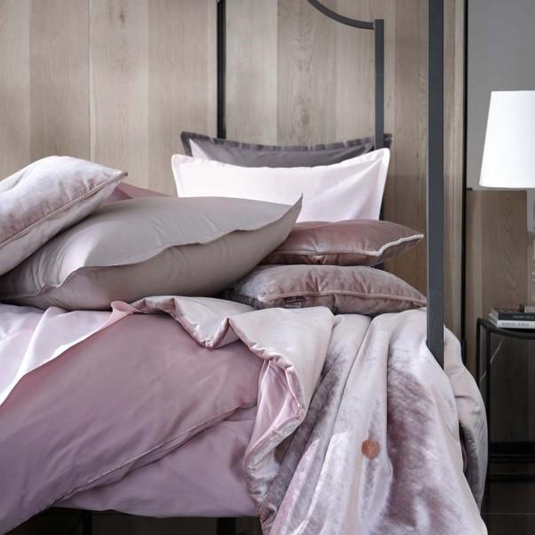 Parure de lit TEO en satin de coton uni - En promotion