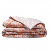 Throw or bed cover ARCHIPEL cotton sateen