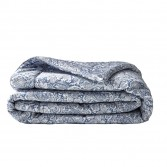 SAUVAGE Blue Luxury small bed cover in cotton sateen