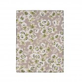 "BLOSSOM Flat sheet in organic cotton sateen printed ""Passiflore"""