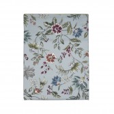 "CANDIDE Flat sheet in printed cotton percale ""Flore Persane"""